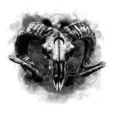 Kuvahaun tulos haulle goat skull tattoo