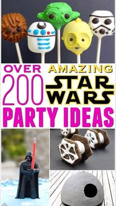 The Best Star Wars Party Ideas! For kids birthdays with decorations, activities, decorations, games, food, cakes, printables, party favors, invitations and more DIY ideas. Star Wars Party Food, Star Wars Party Favors, Birthday Crafts, Birthday Party Themes, Star Wars Birthday, Girl Birthday, Food Decoration, Decorations, Diy Ideas