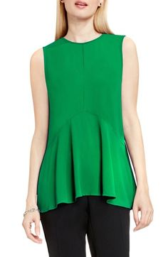 Vince Camuto Sleeveless Ruffle Front Top available at #Nordstrom