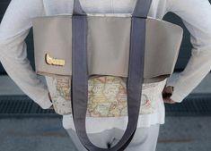 vintage handmade backpack Vintage World map print Cotton Canvas , Vegan convertible backpack & tote bag . Orange Backpacks, Cute Backpacks, Leather Handbags Uk, Backpack Bags, Tote Bag, Convertible Backpack, Day Bag, Medium Bags, Handmade Bags