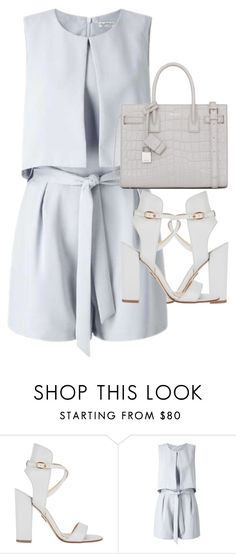 """Untitled #2756"" by elenaday ❤ liked on Polyvore featuring Paul Andrew, Miss Selfridge and Yves Saint Laurent"