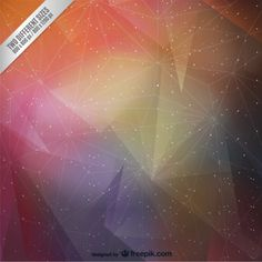 Multicolored triangles and stars abstract background