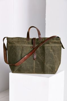 Peg And Awl Large Waxed Canvas Tote Bag - Urban Outfitters
