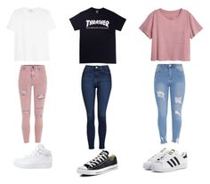 """CHOOSE"" by queenb-676 ❤ liked on Polyvore featuring adidas Originals, Topshop, Converse, River Island, Yves Saint Laurent and NIKE"