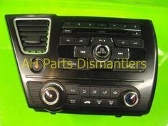 Used 2013 Honda Civic AM/FM/CD RADIO, 2XC3  . Purchase from https://ahparts.com/buy-used/2013-Honda-Civic-AM-FM-CD-RADIO-2XC3/69650-1?utm_source=pinterest