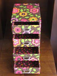 Artes Manuais com Kika Florence: Tutorial mini gaveteiro em cartonagem