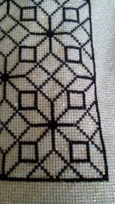 Cross Stitch Borders, Cross Stitch Designs, Cross Stitch Patterns, Hand Embroidery Patterns, Cross Stitch Embroidery, Crochet Patterns, Cross Stitch Cushion, Palestinian Embroidery, Crochet Bedspread