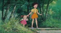 Screencap Gallery for My Neighbor Totoro Bluray, Studio Ghibli). Two young girls, Satsuki and her younger sister Mei, move into a house in the country with their father to be closer to their hospitalized mother. Studio Ghibli Art, Studio Ghibli Movies, Disney, My Neighbor Totoro, Animation, Hayao Miyazaki, Illustrations, Sketches, Cartoons