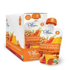Plum Organics Second Blends Hearty Veggie Meal, Butternut Squash Carrot and Chickpea, 3.5 Ounce (Pack of 12) - http://goodvibeorganics.com/plum-organics-second-blends-hearty-veggie-meal-butternut-squash-carrot-and-chickpea-3-5-ounce-pack-of-12/