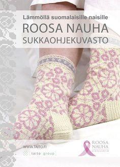 Roosa nauha -sukkaohjekuvasto 5.50€