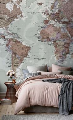 Bed World Map