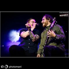 "#Repost @photomanl: So have you ever been caught in a sea of despair? And your moment of truth Is the day that you say ""I'm not scared"" ""  Brent Smith & Zach Myers - Shinedown 11/17/15 Fayetteville NC  Letarte Photography / @carolinasrock105  #BrentSmith #ZachMyers #Shinedown #ThreatToSurvival #Shinedownlive - http://ift.tt/1LfZqTj"