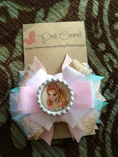 Ever After High Bottle Cap Hair Bow by PinkCaramel on Etsy, $5.00