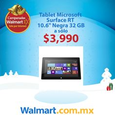La #tablet que esperabas al precio que mereces, aprovecha esta tablet de #Microsoft con un precio especial de $3,990. Hazla tuya ahora.