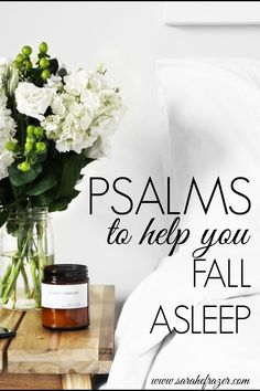 Do you struggle to fall asleep? Use these Psalms to help you fall asleep and rest in God's peace all night long. || Sarah E. Frazer Christian Living, Christian Life, Bible Study Tips, Scripture Study, Motivational Bible Verses, Sisters In Christ, Grow Together, Let God, Best Blogs