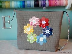 hexie pouch front by pinksuedeshoe, via Flickr