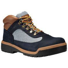 Timberland Men's Dark Navy Nubuck Leather Field Boots * Nice of you to drop by to visit our image. (This is our affiliate link) Timberland Mens, Casual Boots, Dark Navy, Hiking Boots, Lace Up, Man Shop, Things To Sell, Zapatos