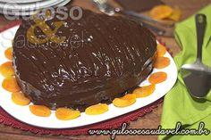 Bolo de Chocolate com Recheio de Damasco » Receitas Saudáveis, Tortas e Bolos » Guloso e Saudável