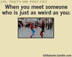OH MY GOSH YES AND THIS IS LIKE THE BEST THING EVER CAUSE ITS SO TRUE AND HILARIOUS AND SPIDER-MAN OKAY IM DONE.