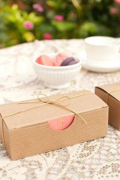 Monogram bakery boxes.