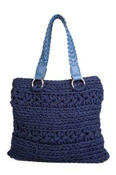 DIY Crochet Kit Zpagetti Bag San Marino Blue | Hoooked