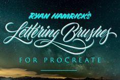My Favorite iPad Lettering Brushes for Procreate. A list of my go-to Procreate Brushes for lettering on the iPad Pro in the Procreate App. Lettering Styles, Hand Lettering, Brush Lettering, Lettering Design, Photoshop Brushes, Photoshop Actions, Brushes Free, Lightroom, Web Design