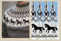Fair Isle Knitting Patterns, Knitting Stitches, Knit Patterns, Tapestry Crochet, Knit Crochet, Norwegian Knitting, Icelandic Sweaters, Knitwear, Sewing