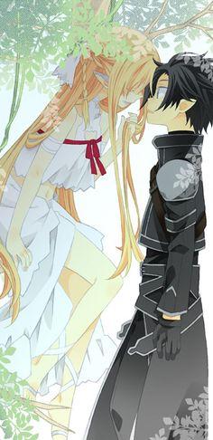 Sword Art Online Asuna (Tytania) + Kirito, by halya