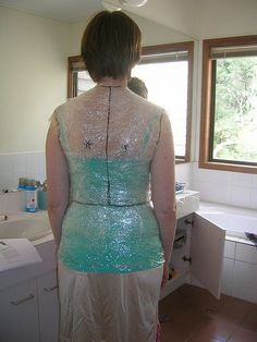 Saran wrap Sloper--she has more pics at her link to her flickr page, this is a great tutorial