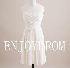 Sheath/Column Sweetheart Chiffon knee-Length Bridesmaid/Evening/Prom Dress$78.00