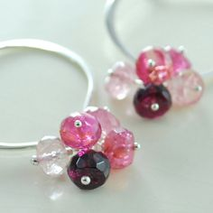 Tourmaline comes in so many tempting colours - these lovely berry colours remind me of candy.