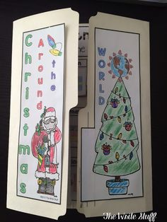 Teach students about diversity with Christmas Around the World Lap Books.