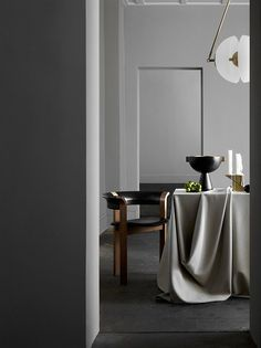 "scandinaviancollectors: ""Interior by Apparatus Studio, New York: Synapse-pendant light and Neo-vessel, both by Apparatus Studio. / Apparatus Studio """