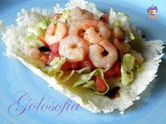 Insalatina di gamberi-ricetta estiva-golosofia Arancini, Cooking Recipes, Healthy Recipes, Calamari, Antipasto, Light Recipes, Lunches And Dinners, Italian Recipes, Estate