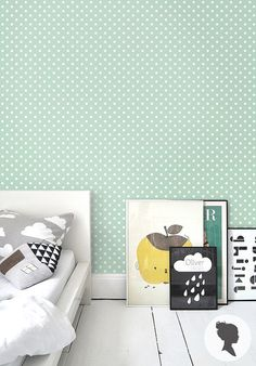 Kids' room inspiration: Self Adhesive Polka Dot Pattern Removable Wallpaper by Livettes