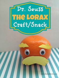 "Seuss Craft"" ""Healthy Snack"" ""Fun Snack for Kids"" ""Orange Lorax Craft"" ""Lorax Craft"" ""The Lorax Craft"" ""Dr. Seuss The Lorax"" Camping Activites For Kids, Fun Snacks For Kids, Activities For Kids, Birthday Activities, Toddler Classroom, Future Classroom, Dr Seuss Week, Dr Seuss Birthday, The Lorax"