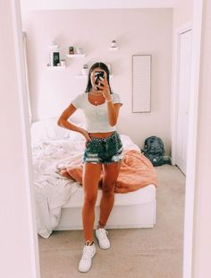 Cute Summer Outfits For Teens Spring Outfits - Fashion Trends Womens Fashion Casual Summer, Teen Fashion Outfits, Boho Outfits, Look Fashion, Trendy Outfits, Cute Summer Outfits For Teens, Summer Fashion For Teens, Teen Summer Clothes, White Top Outfit Summer