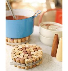 wine cork hot pad