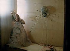 Kristen McMenamy and white spider Glemham Hall, Suffolk, 2011 Photograph Tim Walker