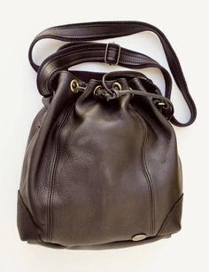 ac27dcc5448c Freestyle Handmade Genuine Full Grain Leather - Madrid Black drawstring bag.  R 1 459