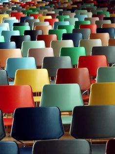 colorful stadium seats