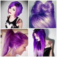 cabelos coloridos: roxo