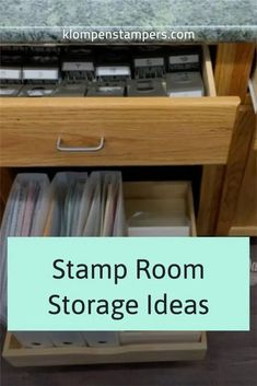 Need stamp room storage ideas? Come take a tour with me and find craft storage solutions and room organization that can work for your stamps, paper storage, embellishments, ribbon storage, and more. Check out the tour at www.klompenstampers.com. Ribbon Storage, Paper Storage, Storage Room, Room Organization, Craft Storage Solutions, Crafts, Pantry Room, Manualidades, Room Layouts