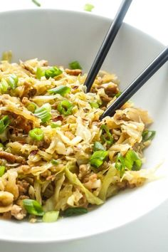 Keto Egg Roll in a Bowl [Recipe] could be done with ground chicken, although might be hard to find that organic? Keto Egg Roll in a Bowl [Recipe] could be done with ground chicken, although might be hard to find that organic? Ketogenic Recipes, Low Carb Recipes, Diet Recipes, Cooking Recipes, Healthy Recipes, Simple Recipes, Recipies, Lunch Recipes, Vegan Keto Recipes