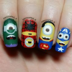 jessnailed_it minions #nail #nails #nailart