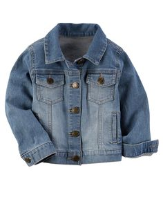 Baby Girl Denim Jacket from Carters.com. Shop clothing & accessories from a trusted name in kids, toddlers, and baby clothes.