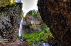 Monoliths by eyeofalens  Elowah Falls Nature Oregon PNW Pacific Selfie Waterfall Monoliths eyeofalens