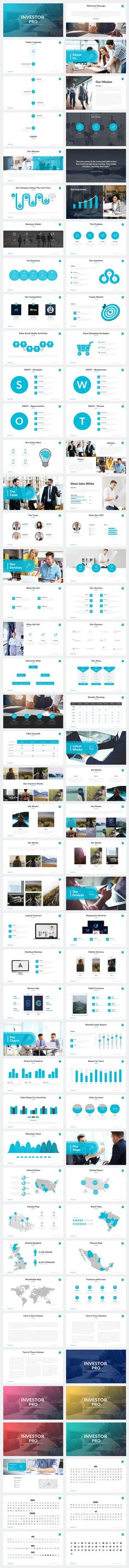 Investor Pro Powerpoint Template by Rocketo Graphics