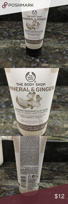 The Body Shop Mineral & Ginger Mask NWT Warming massage clay mask. Purifies pores. For all skin types. New never used. 3.3 fl oz The Body Shop Makeup