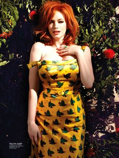 \  Christina Hendricks - Flare by Max Abadian, May 2013